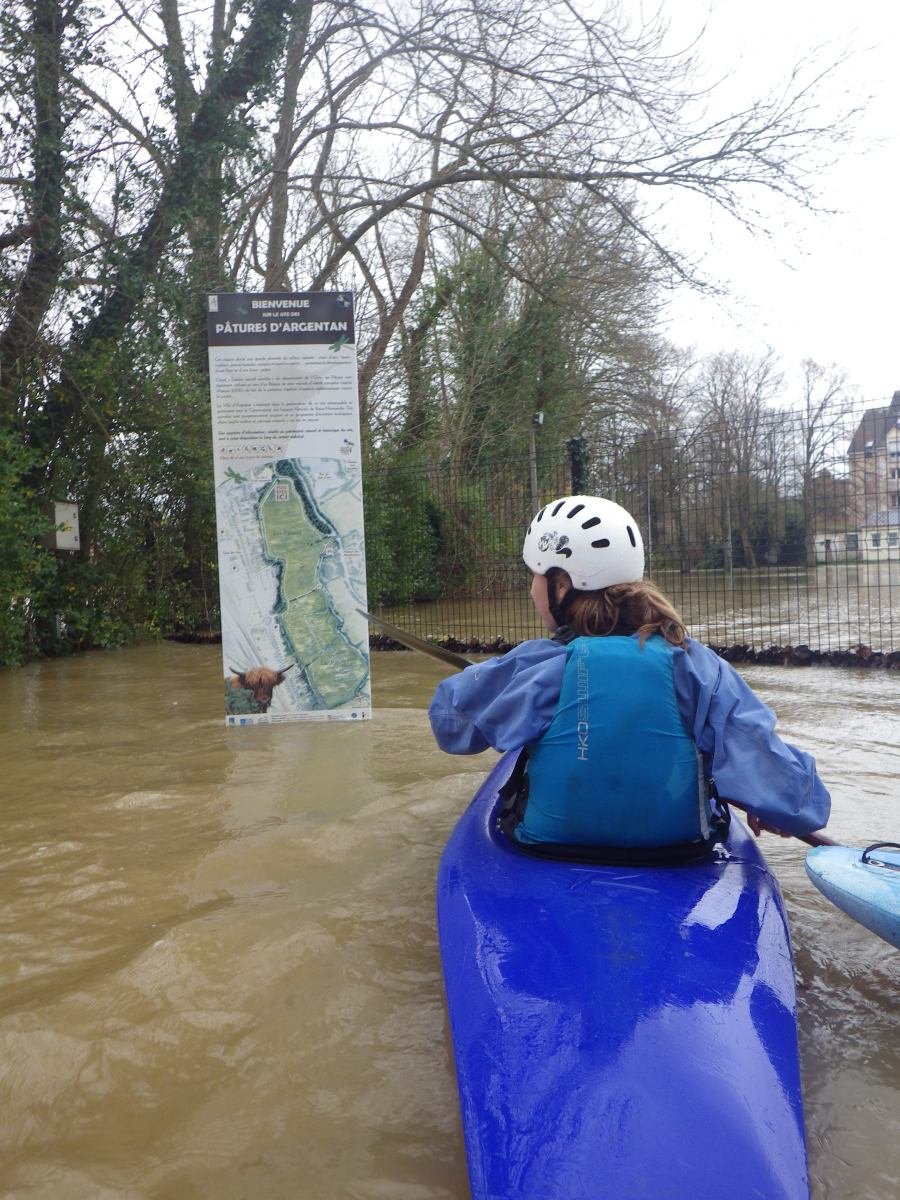 Du kayak dans les Pâtures !