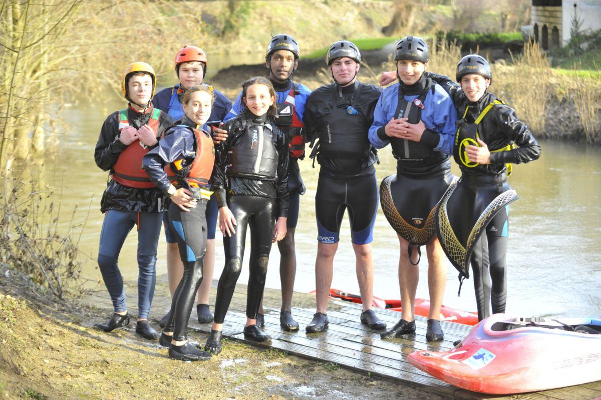 C'est les vacances…et il y a kayak au club